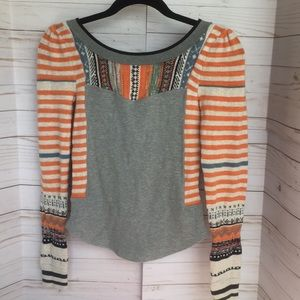 Fitted multi color low back sweater